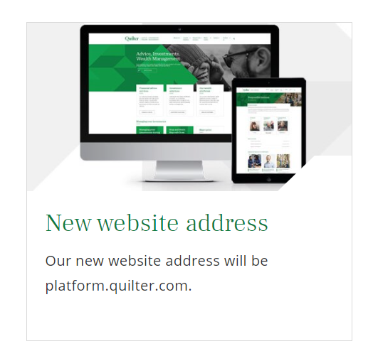 Quilter got the EBM domain Quilter.com for its brand