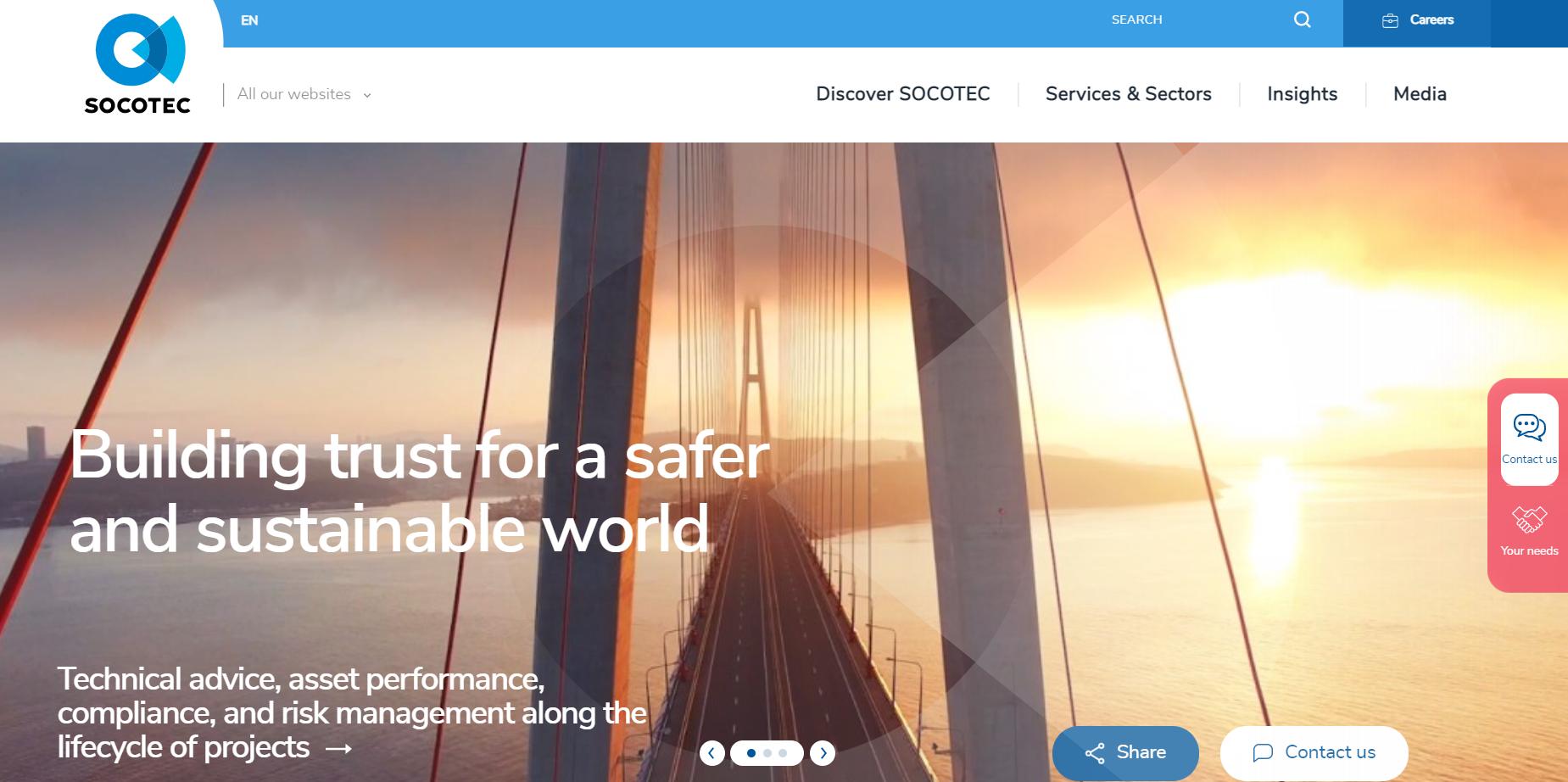 SOCOTEC.com rebrand